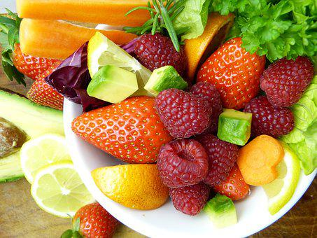 Fruit Avocado Lemon Orange Strawberries Ra