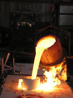 Crucible Foundry Molten Bronze Metal Hot C