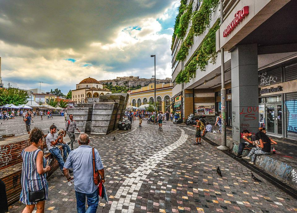 Athens, Square, Greece, Travel, City, Urban, Plaka
