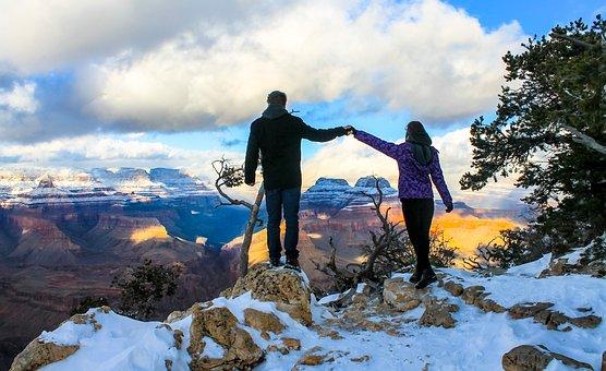 Grand Canyon Hiver, Jeune Fille, Grand