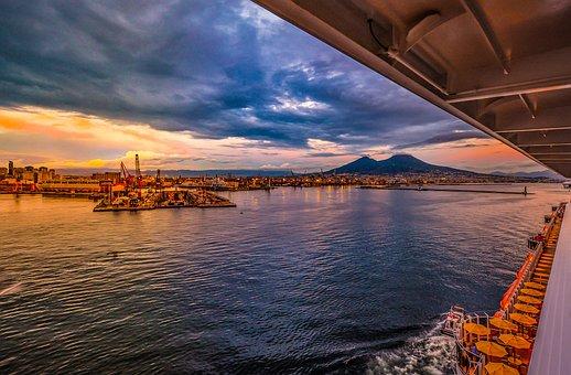 Vulcano, Crociera, Porto, Mare, Napoli