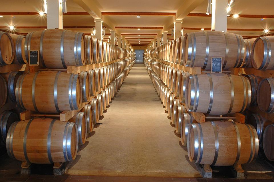 ワイナリー, チャイ, バレル, ワイン, 洞窟, 城, 白ワイン