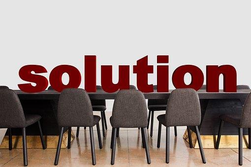 会议, 解决方案, 澄清, 办公室, 餐桌, 椅子, 工作, 组, 合作