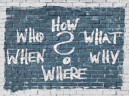 Domande, Chi, Cosa, Come, Perché, Dove