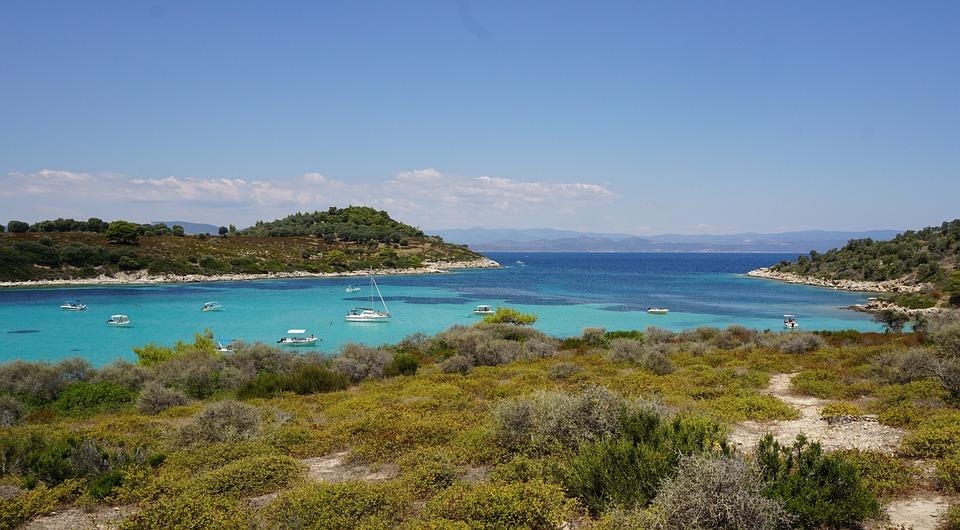 Island, Diaporos, Blue Lagoon, Greece, Chalkidiki