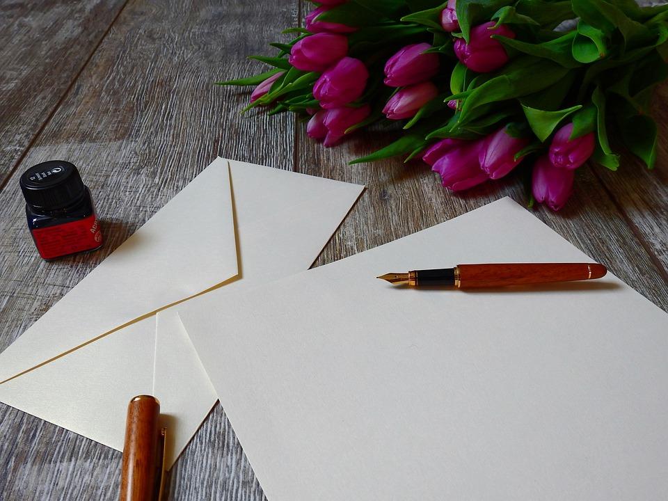 Lettres, Papier, Écrire, Charge, Stylo Plume