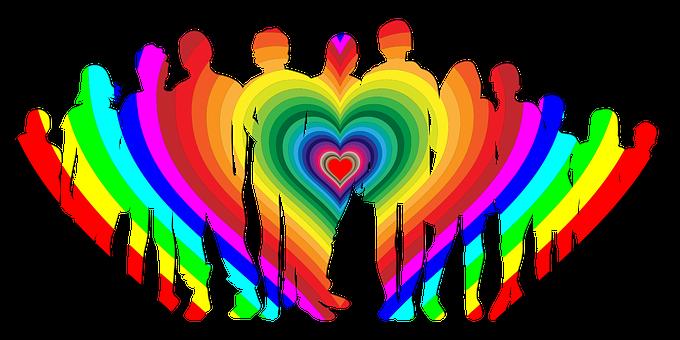 Family, Love, Rainbow, Boy, Child