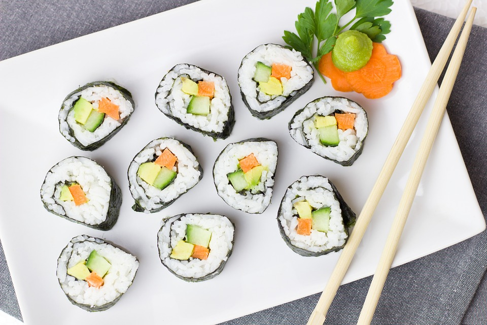 Sushi, Vegetarian, Vegetables, Rice, Asia, Carrot