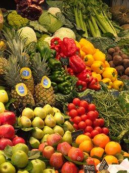 Obst, Gemüse, Markt, Lebensmittel