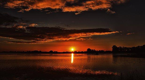 puesta del sol atardecer paisaje
