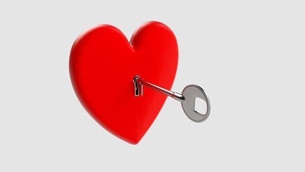 Key, Heart, Love, Symbol, Valentine