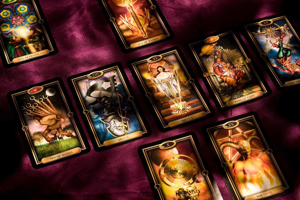 Tarot, Tarjetas, Tarjeta De, Profecía, Oscuro, Luz