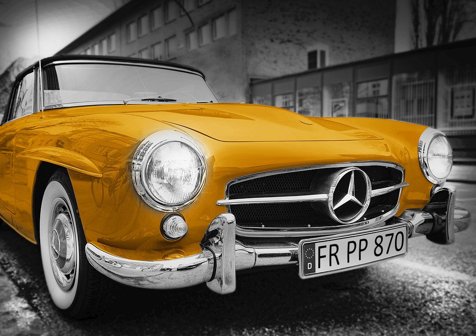 Free Photo Old Car Mercedes Benz Golden Free Image On