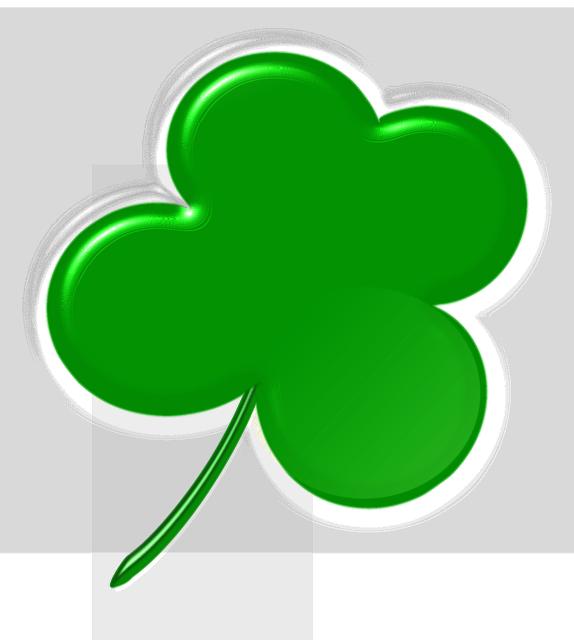 Free illustration clover four leaf clover shamrock - Shamrock foglio da colorare ...