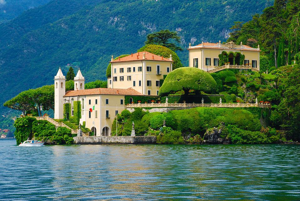 free photo mansion lake como italy villa free image. Black Bedroom Furniture Sets. Home Design Ideas