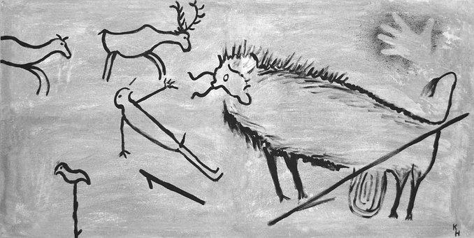 Steinzeit, Malerei, Wandmalerei, Lascaux