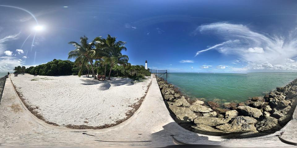 Key Biscayne, Playa, Naturaleza, Mar, Océano, Florida