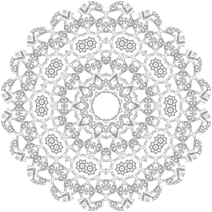 coloring mandalas geometric patterns design mandala