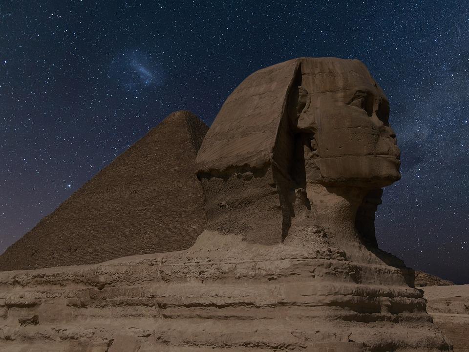 Sfinx, Egypten, Landmärke, Egyptiska, Antika, Cairo