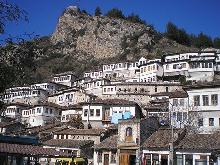 Berat, Albania, Castle, Balkan, Europe
