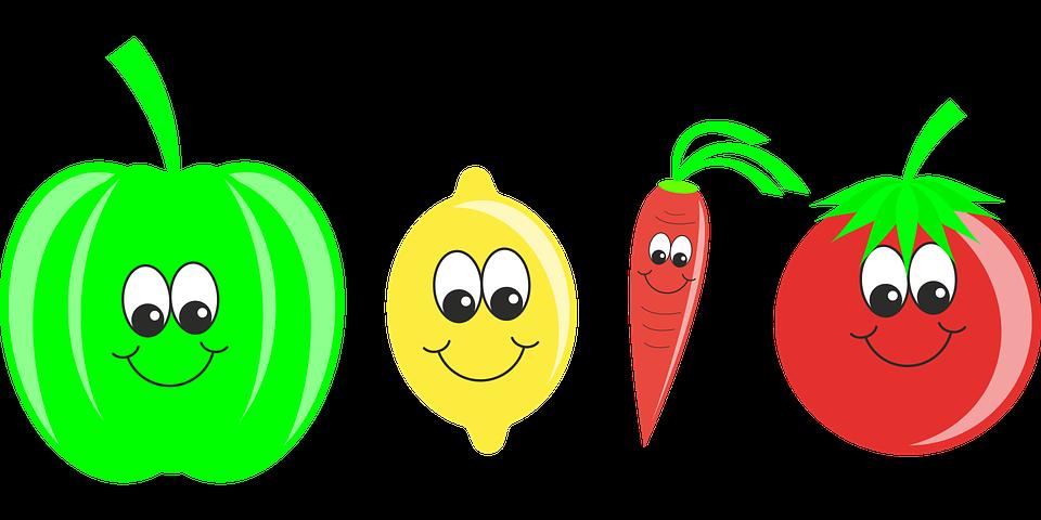 Warzywa, Owoc, Pieprz, Cytrynowy, Marchewka, Pomidor