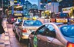 taxi, traffic, night