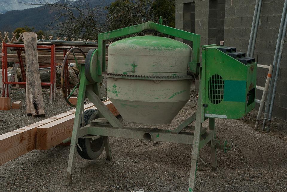 Masonry, Concrete Mixer, Cement, Beams