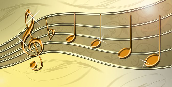 La Musique, Portées, Clef