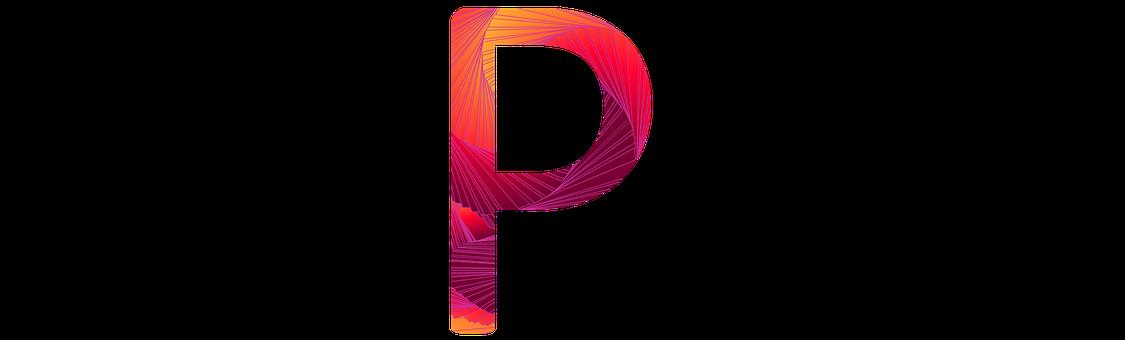 Letter P Consonant Abc Alphabet Typography