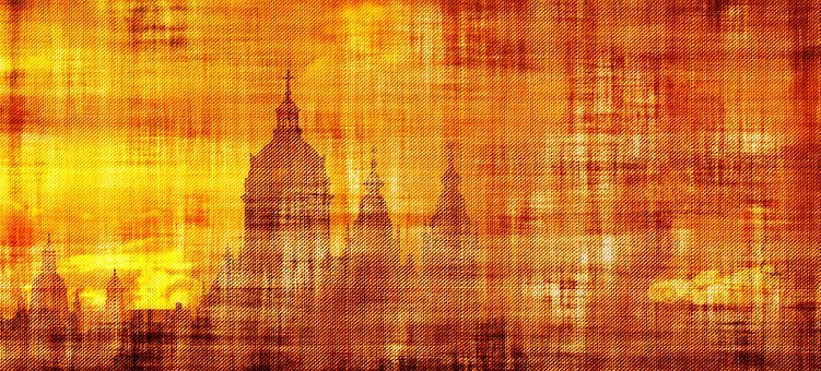 Parchment Paper Churches Dome Believe