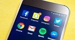 smartphone, screen, social media