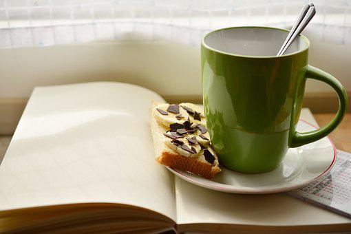 Cup, Book, Breakfast, Read, Plan