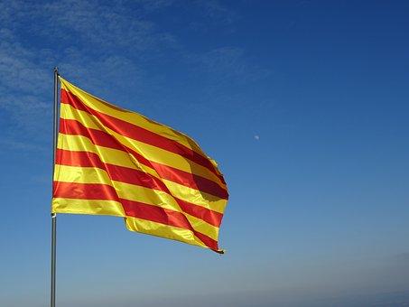 Flag, Catalan, Senyera, Waving