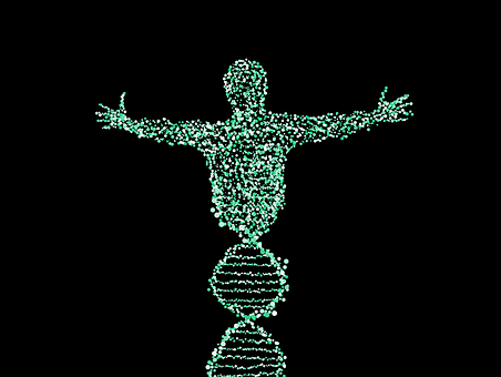 Man Dna Spiral Biology Merge Points Patter