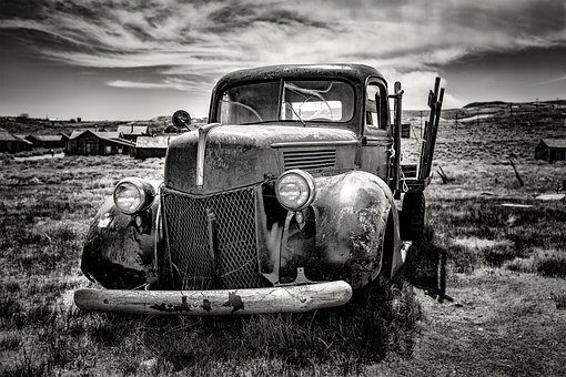 Oldtimer, Black And White, Auto