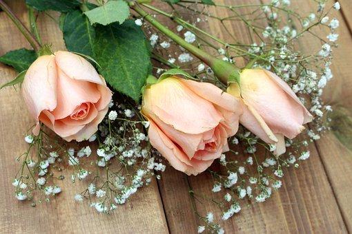 Roses, Fleurs, Bouquet, Composition
