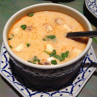 泰语, 汤, 椰奶, 异国情调, 烹饪, 美食, 健康, 椰子, 营养, 食品