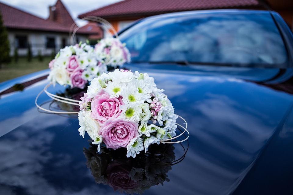 Auto Fur Hochzeit Blumen Kostenloses Foto Auf Pixabay
