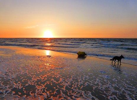 Sonnenuntergang, Strand, Zeeland