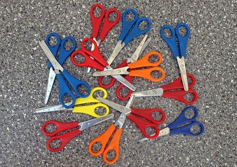 Scissors, Colorful, Kids Scissors