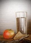 apple, bread, water