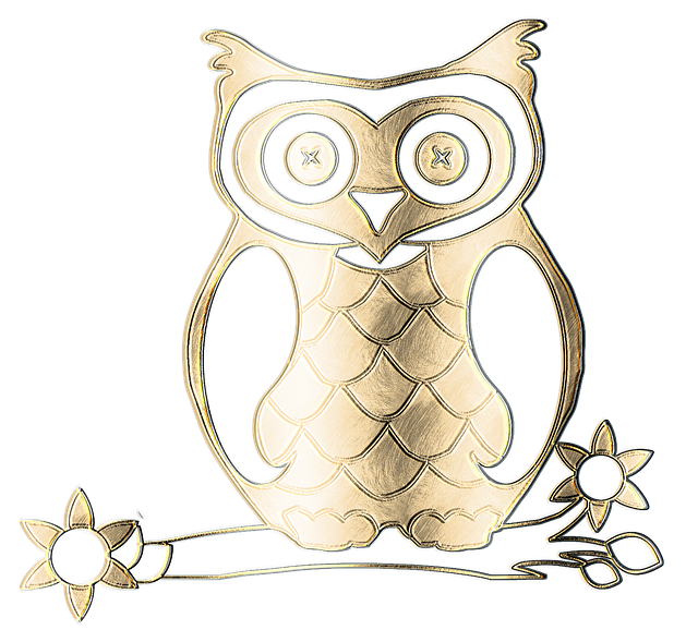 Free Illustration Owl Metal Gold Texture Graphic
