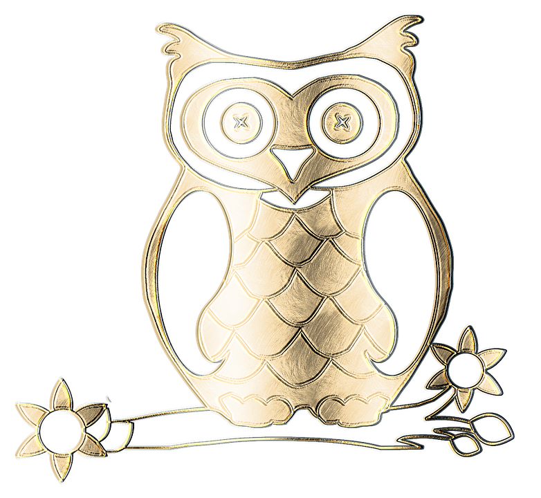 Burung Hantu Logam Emas Gambar Gratis Di Pixabay