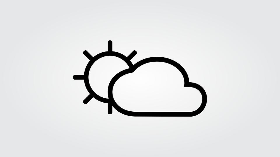 Line Art Of Sun : Sun cloud and · free image on pixabay