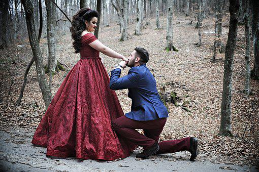 Proposing, Engagement, Couple, Love