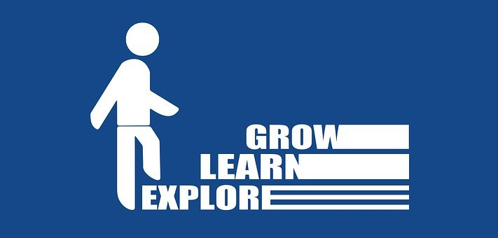 Learn Grow Education Stairs Rise Person Si