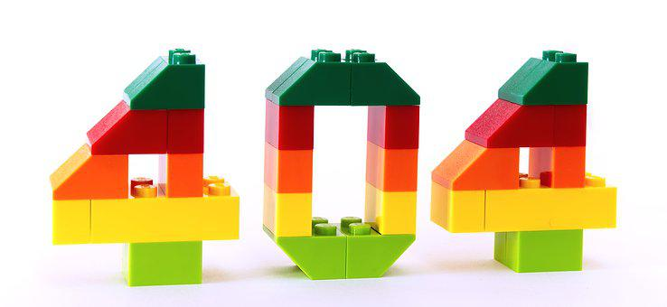 Error, Not Found, 404, Lego, Mistake, 4