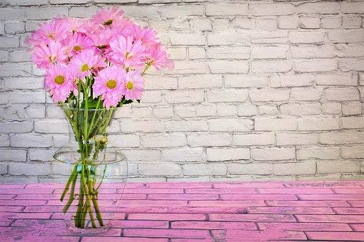 春, 花, ヒナギク, ピンク, 花柄, 花束, 自然, 春の花, ブルーム