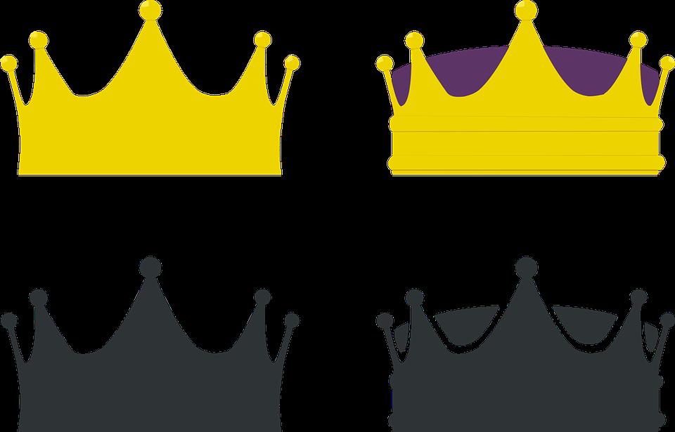 vector gratis: corona, rey, reina, coronas - imagen gratis en