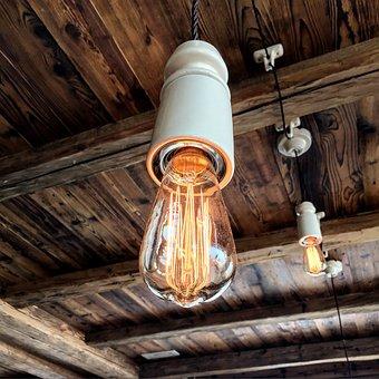 Light, Baita, Refuge, Wood, Furniture